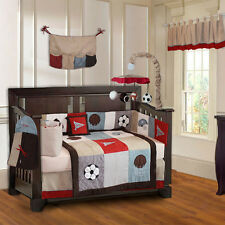 BabyFad 10 Piece Go Team Boys Sport Baby Crib Bedding
