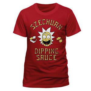 RICK-AND-MORTY-T-Shirt-Szechuan-Sauce-Red-NEW-OFFICIAL-S-XL