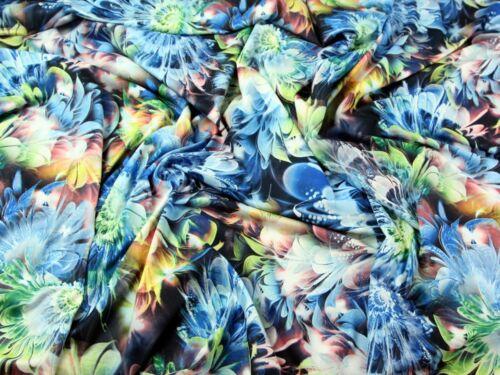 EM-5440 - Rosa-M Impresión Floral estiramiento jersey vestido tejido de tacto suave