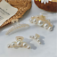 Fashion Women Girls Large Pearl Hair Clips Pins Claws Barrettes Accessories New