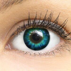 Neuestes Design offizieller Verkauf am besten einkaufen Details zu Farbige Kontaktlinsen blau ohne mit Stärke Big Eyes Cool Blue  Anime farbig 15mm
