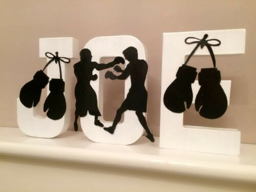 Handpainted boxing letters Wall art boxer Fury wilder Ali Mayweather sport