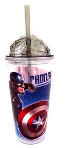 Marvel-Captain-America-VS-Iron-Man-Civil-War-Exclusive-Drinking-Cup-20-Oz-NEW