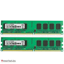 New 4GB 2X2GB PC2-6400 DDR2-800MHz Memory For Dell Inspiron 530 531 530s 531s