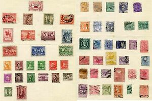AUSTRALIA-COLLECTION-64-stamps-USED-on-PAGES-VICTORIA-to-GEORGE-6th