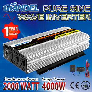 Large-Shell-Pure-Sine-Wave-Power-Inverter-2000W-4000W-12V-to-240V-Remote-Control