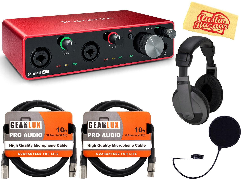 Focusrite Scarlett 4i4 3rd Gen 4-In 4-Out USB Audio Interface w  Kopfhörer