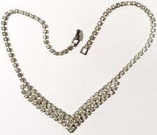 collier bijou vintage cristaux swarovski diamant couleur argent or blanc * 4940