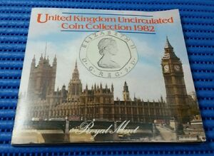 1982-United-Kingdom-Uncirculated-Coin-Collection-20-pence-amp-without-the-034-New-034