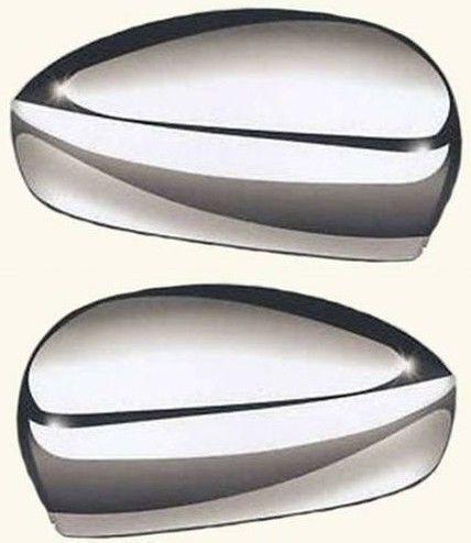 2 X CALOTTE SPECCHIO RETROVISORE CROMATE LUCIDE FIAT 500 07/> DAL 2007 IN POI