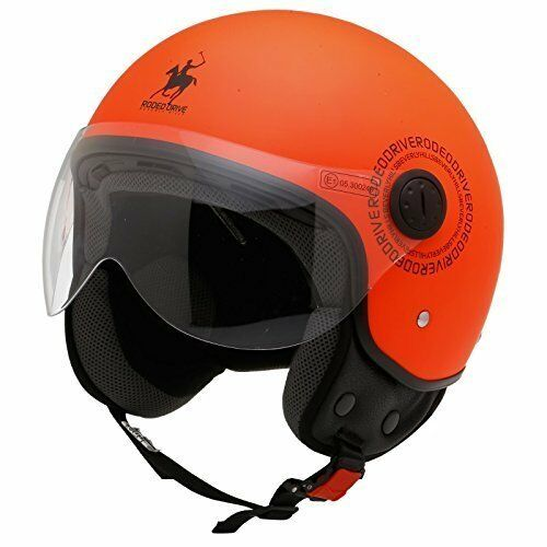 astaéo Drive Casque Polo moto scooter DJet Rd105 arancia Fluo Diuominiione S NEUF
