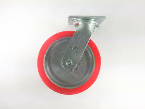 "2EA 8/"" x 2/"" Polyurethane on Aluminum Caster 2EA Swivel /& Swivel with brake"