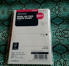 Filofax Pocket 2017 Week On Two Pages Format English 2017 Diary Refill 17-68221