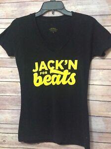 Jack-Daniels-Womens-Sz-M-Tennessee-Honey-Jack-039-N-for-Beats-Tee-Shirt