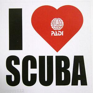 Scuba-Diving-PADI-Sticker-Decal-039-I-Love-Heart-Scuba-039-3-034-x-3-034