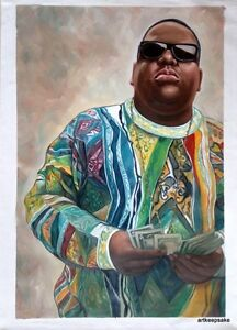 Image Is Loading 20x28 034 Biggie Smalls Notorious BIG Oil Painting