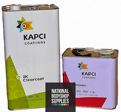 KAPCI 12000 7.5L Clearcoat Kit 2K Lacquer 5L + 2.5L Fast Hardener V High Gloss