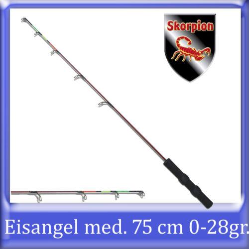 SK EISANGEL ANGEL//RUTE MEDIUM AKTION 75cm 0-28 gr EISANGELN FLUOFARBENDE SPITZE
