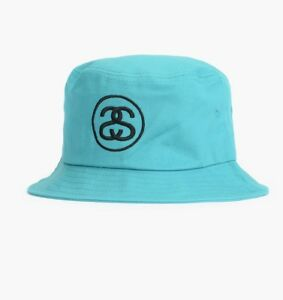 b7df9e87426 STUSSY SS LINK SP 16 TEAL BUCKET EMBROIDERY STREETWEAR ONE SIZE
