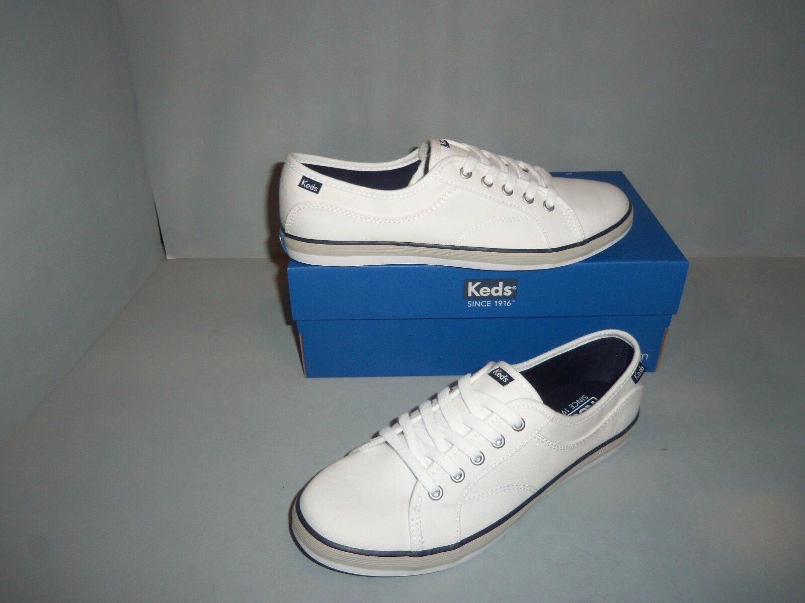 Womens KEDS Coursa Lace-Up Canvas Shoes Navy White or Black or Navy Shoes Blue SIZES NIB dad569