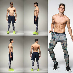 Casual-Men-Compression-Pants-Joggers-Crossfit-Skinny-Leggings-Camouflage-S-XXXL