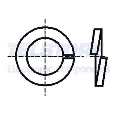 M8 RONDELLE ELASTICHE A2 Acciaio Inox 100 Pack