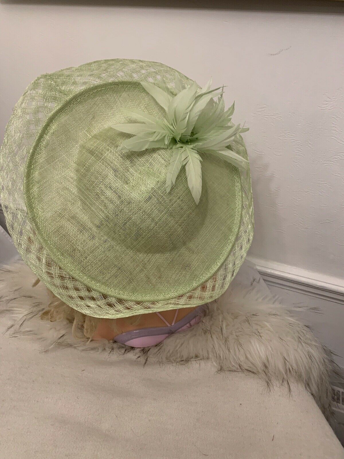 Exclusive HAWKINS SAGE GREEN Designer Millinery by Hat Couture Wedding/Ascot