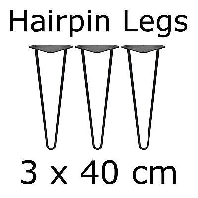3 X 40 Cm Gambe Tavolo Tavolo Lame Tavolo Telaio Tavolino Hairpin Legs Disco Albero- Completa In Specifiche