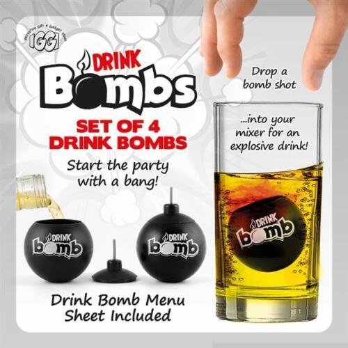 Set of 4 IGGI Bomb Shots Ideal for Cocktails Glasses Jagermeister Shots Gifts