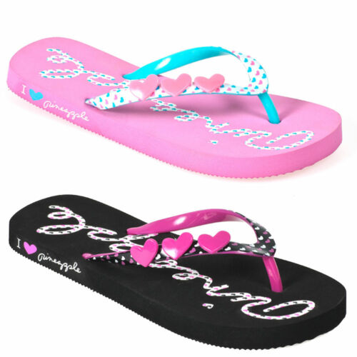 Girls Womens Flip Flops Sandals Summer Beach Shoes Designer Fashion Pink Black