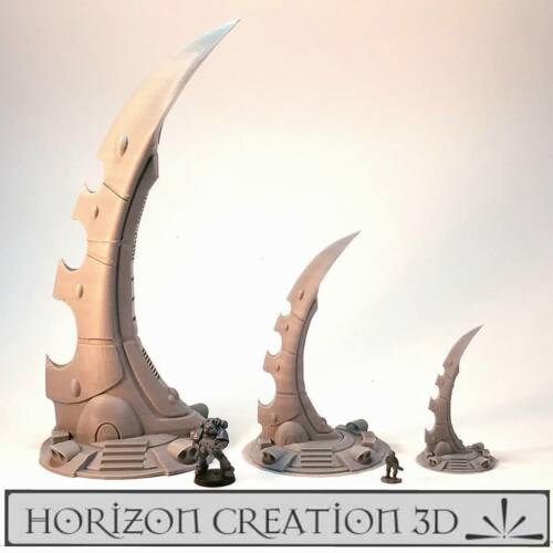 28m Warp tech Paysage Terrain Miniatures Wargames Gates Hc3d 15mm 40k q84wETq