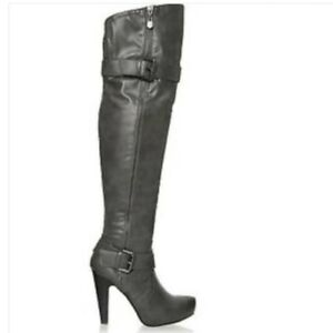 various colors wide range performance sportswear G by GUESS TARMATIC PLATFORM SIDE ZIPPERS BLACK GRAY OTK BOOTS I ...