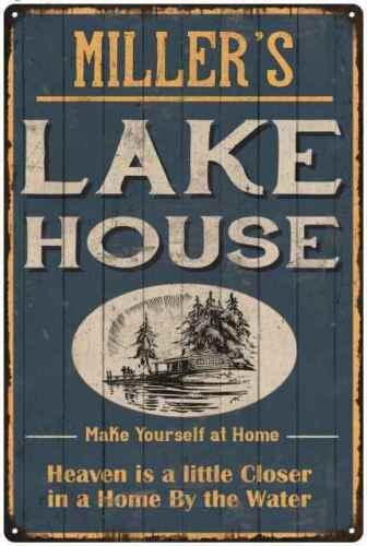 MILLER/'S Lake House Blue Cabin Home Decor Gift  Metal 112180038006
