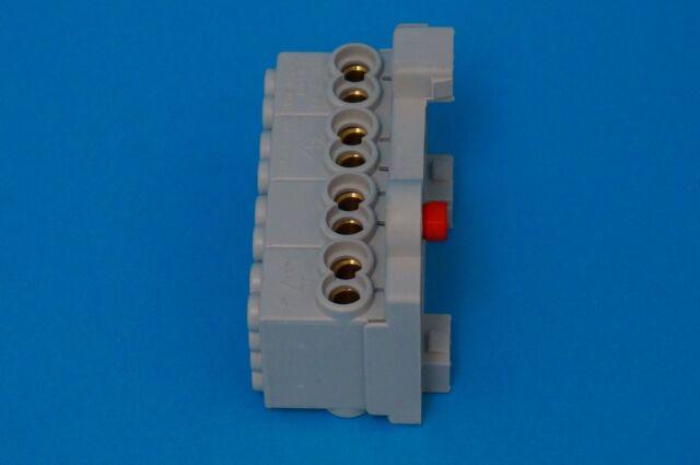4 Klemmstellen 25mm² Abzweigklemme Werit 125.482 Hauptleitungsklemme 4-polig