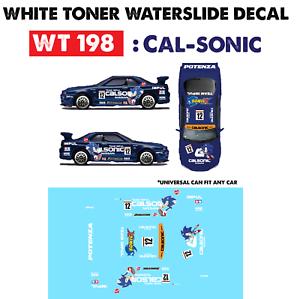 Wt198 White Toner Waterslide Decals Cal Sonic For Custom 1 64 Hot Wheels Ebay