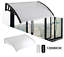 thumbnail 1 - Door Canopy Awning Shelter Canopy Outdoor Porch Shade In 2 Colours, Lightweight,
