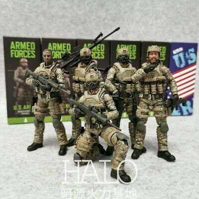 JOY TOY United States Marine Corps Military Set of 5 Figures *Collectible 1//18