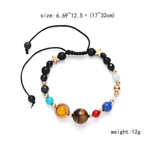 7 Chakra Healing Beaded Natural Lava Stone Bracelet Diffuser Bangle Lucky Gift
