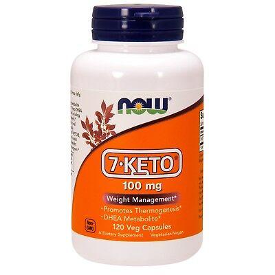 NOW® 7-KETO®, 100 mg, 120 Veg Capsules