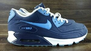 finest selection 4d9ec 5b76f Image is loading NIKE-AIR-MAX-90-OBSIDIAN-BLUE-UNIVERSITY-BLUE-