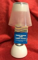 Battery-operated Touch-sensor White Desk Table Lamp -7.5 Inch- Brand