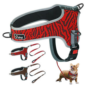 Reflective-No-Pull-Dog-Harness-Lead-Safety-Buckle-Front-Leading-Adjustable-M-XL