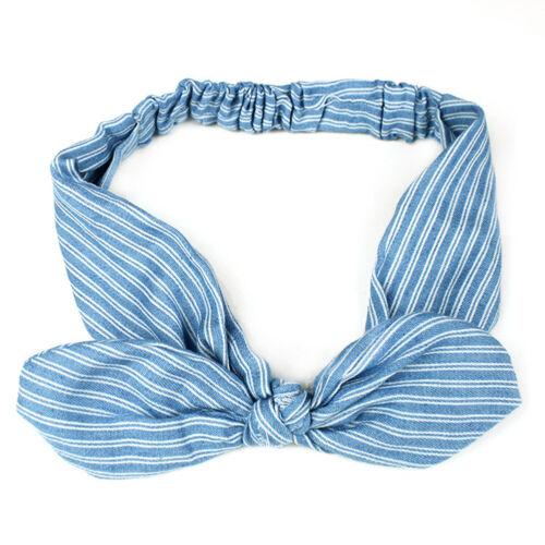 Wide Stretch Fabric Bow Bowknot Headband Nonslip Hairband Wire Bendy Headwear
