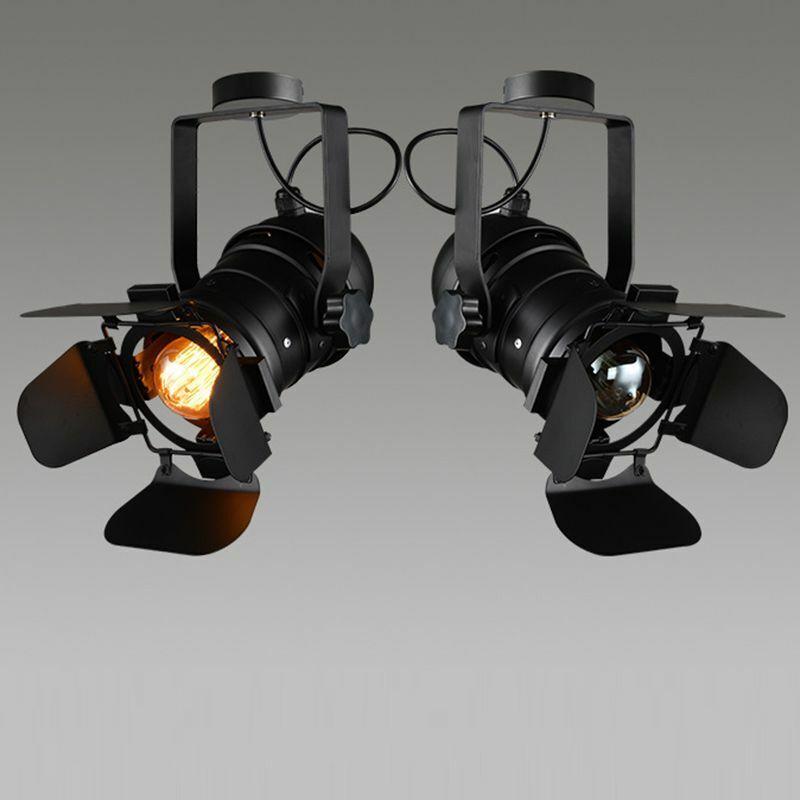 Iron Ceiling Lamp Adjustable Vintage Lighting Fixture Coffee Bar Light Decor