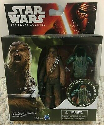 NEW STAR WARS CHEWBACCA CHEWY ARMOR UP THE FORCE AWAKENS 3.75 in ACTION FIGURE