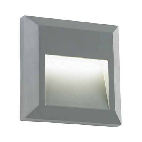 Saxby Severus Outdoor Wall Guide Light Square Indirect IP65 1W LED Warm White