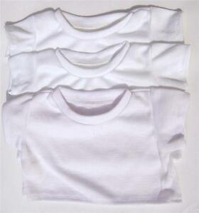 WHITE-T-SHIRTS-PARTY-PACKS-OPT-FABRIC-PENS-FITS-16-034-TEDDIES-amp-BUILD-YOUR-BEAR