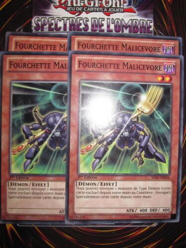 com fork malicevore x4 shsps-fr004 ed 1 francais new Yu-gi-oh playset