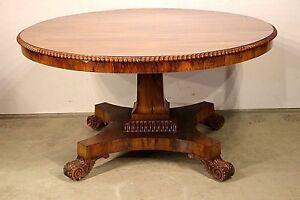 Details About Rare Antique 1820 S Regency Brazilian Rosewood Dining Table Seats 6 Original