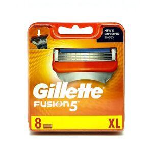 8-Gillette-Fusion5-Rasierklingen-1x8-Klingen-in-OVP-mit-Seriennummer